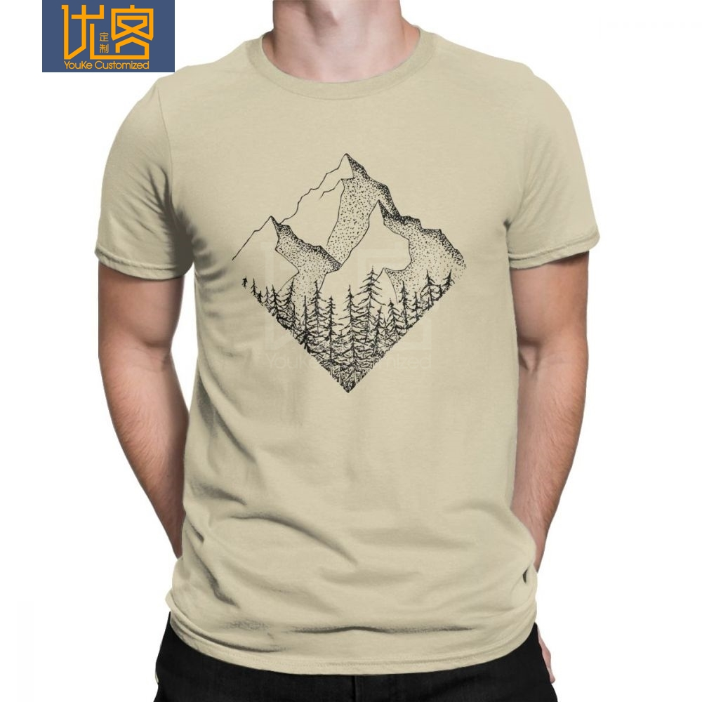 The Diamond Range Men T Shirt Outdoors Mountains Hiking T-Shirt National Parks Casual Cotton Short Sleeve Tees Plus Size Clothes image