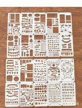 12 pçs conjunto de estêncil planejador plástico diy modelo de desenho diário planejador diário caderno diário scrapbook