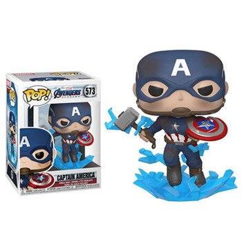Funko Pop Marvel Avengers CAPTAIN AMERICA #573 Vinyl Figure Dolls Toys Marvel Action Figures 1