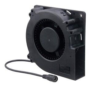 Image 2 - Лидер продаж, вентилятор 120 мм, 12 В постоянного тока, гнездовой разъем 5,5x2,1 мм, 12 см, 120x120x32 мм, 12032 центробежный охлаждающий вентилятор с адаптером питания 100 В переменного тока, 220 В