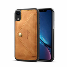 For iPhone X Vintage Leather PU Case Multi-purpose Card Phone for XR XS Shockproof Back Cover
