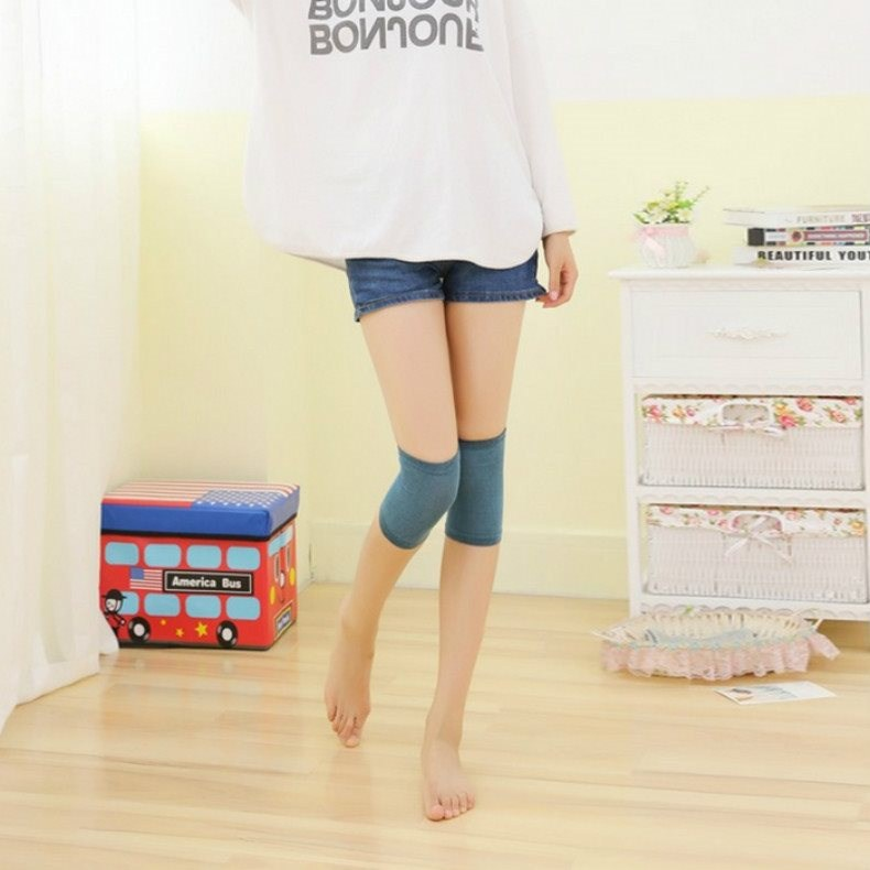 Air-conditioned Room Children Anti-Cover Joints Short Girls Long Adhesive Sleep Knee Air Conditioner Kneecap Portable