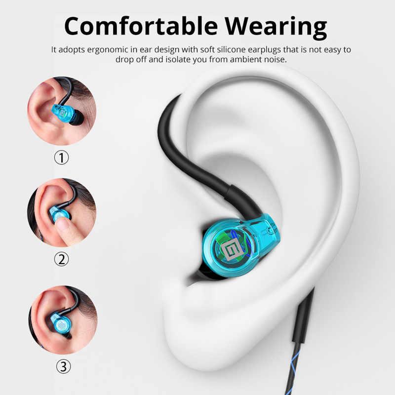 Langsdom Sp80B słuchawki basowe słuchawki przewodowe Anti-Fall w ucho słuchawki z mikrofonem zestaw słuchawkowy do telefonu auriculares fone de ouvido