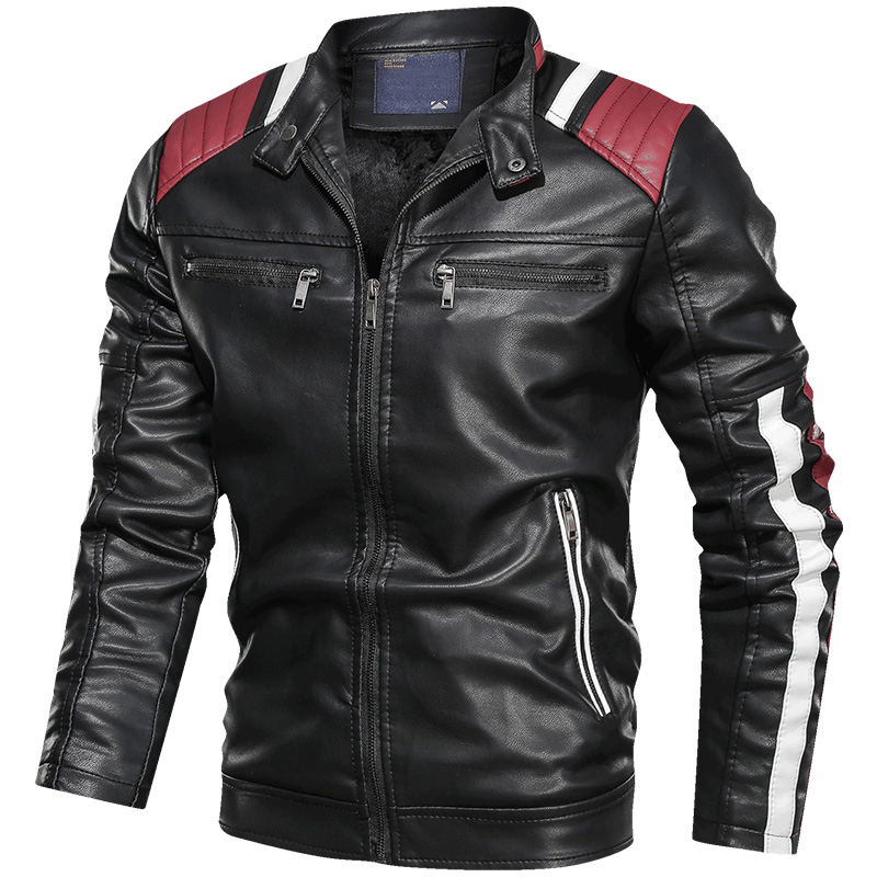 Air Force Men's Faux Leather Jackets Velvet XXXL Motorcycle Leather Coat European And American Style Autos Mans PU Overcoat A915
