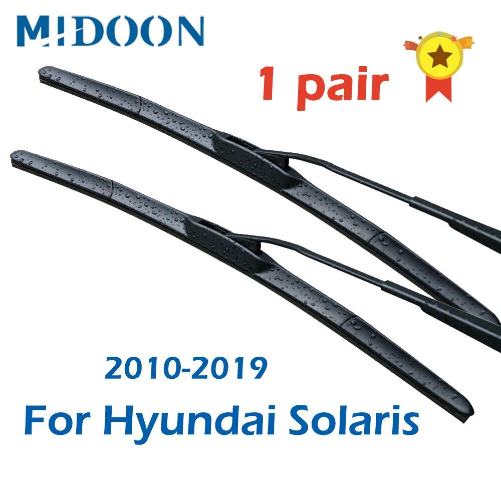 MIDOON 1 пара щеток стеклоочистителя для Hyundai Solaris 2010 2011 2012 2013 2014 2015 2016 2017 2018 2019