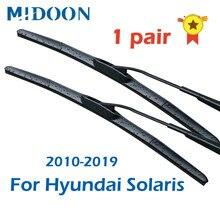 MIDOON 1 Par Brisas Lâmina Híbrida para Hyundai Solaris 2010 2011 2012 2013 2014 2015 2016 2017 2018 2019