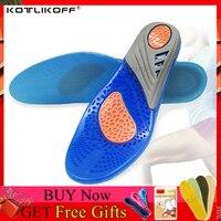Silicone gel palmilhas ortopédico massagem inserções de sapato esportes absorção de choque sapato almofada confortável para homem mulher sapatos palmilha|gel insoles|comfort insoles|insoles men -