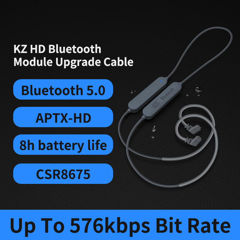 <font><b>Bluetooth</b></font> 5,0 Wireless Kabel APTX-HD Modul Kopfhörer Upgrade Kabel Für MMCX <font><b>KZ</b></font> AS10 ZST <font><b>ZSN</b></font> <font><b>Pro</b></font> ZS10 ProAS16 ES4 ZSR image