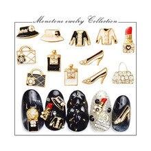 Роспись ногтей японский стиль Сплав окрашенный цвет обувь на высоком каблуке одежда сумки губная помада современные украшения стикер для ногтей