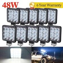48W Lumière Led bar barra 27W VOITURE lumière pour 4x4 barre de led offroad SUV ATV BATEAU TRACTEUR Camions Pelle 12V 24V a mené la lumière de TRAVAIL