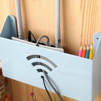 Caja de almacenamiento para enrutador WiFi, organizador creativo de montaje en pared para el hogar, cajas de estante