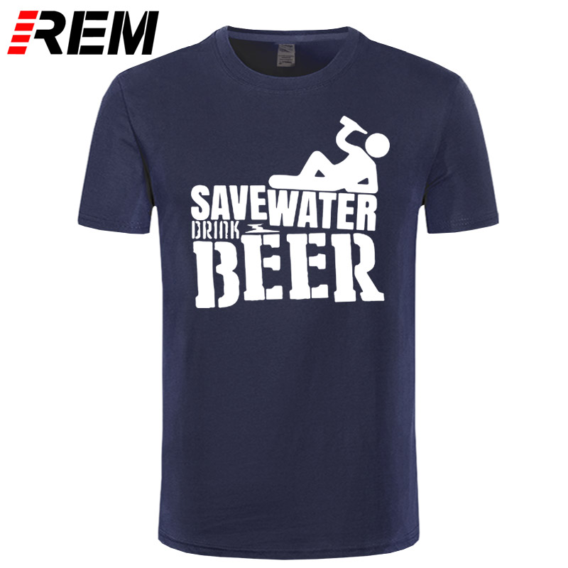 Save Water Drink Beer Men's T-Shirt New Arrival Male Tees Summer Casual Boy's Tops Funny Print Men T Shirt Camisetas Masculina