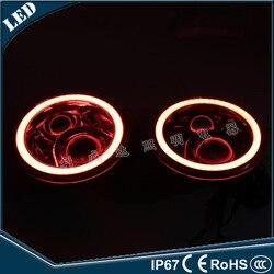 El vectra 60 w RGB color LED faro Móvil APP control con ojo de Ángel luces de coche