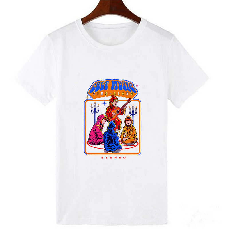 夏男の tシャツサタンシャツエイリアン死男性綿アメリカの tシャツホラーストーリー tシャツトップ