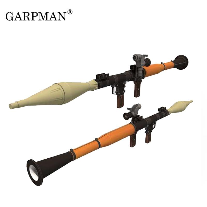 1:1 PRG - 7 Bazooka Cosplay Weapon Paper Model RPG DIY Handmade 3D Paper Gun Toy