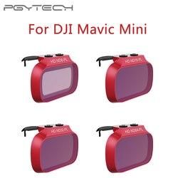 Filtros de lente pgytech para dji mavic mini uv cpl nd 8 16 32 64 pl filtro kit para dji mavic mini nd8 nd16 nd32 nd64