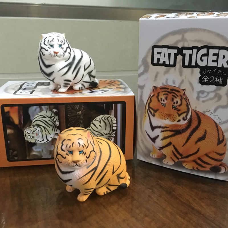 Hot New 10cm Super Cute Fat Tiger Car Decoration  Figure Little Tiger Gift Box