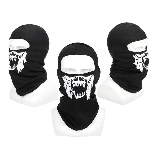 LEEPEE Halloween Ghost Skull Breathable Full Face Mask Unisex Motorcycle Bike Windproof Mask Winter Ski Mask Balaclava 2