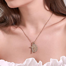 Women Double Pendant Catholic Crucifix Jesus Cross Necklace Virgin Mary Thin Chain Necklaces Alloy Crystal Neckless Jewelry Gift(China)
