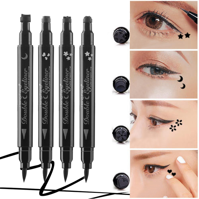1 PCS NEWEST Black Eyeliner Waterproof Liquid Makeup Cosmetic Stamp Tattoo Pencil Pen Eye Liner Makeup Tools 2