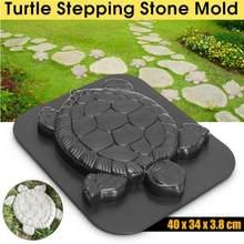 Pavimentación manual de moldes de ladrillos de cemento en forma de tortuga, molde para construir pavimentos, camino de jardín, moldes de piedra, molde de cemento de hormigón