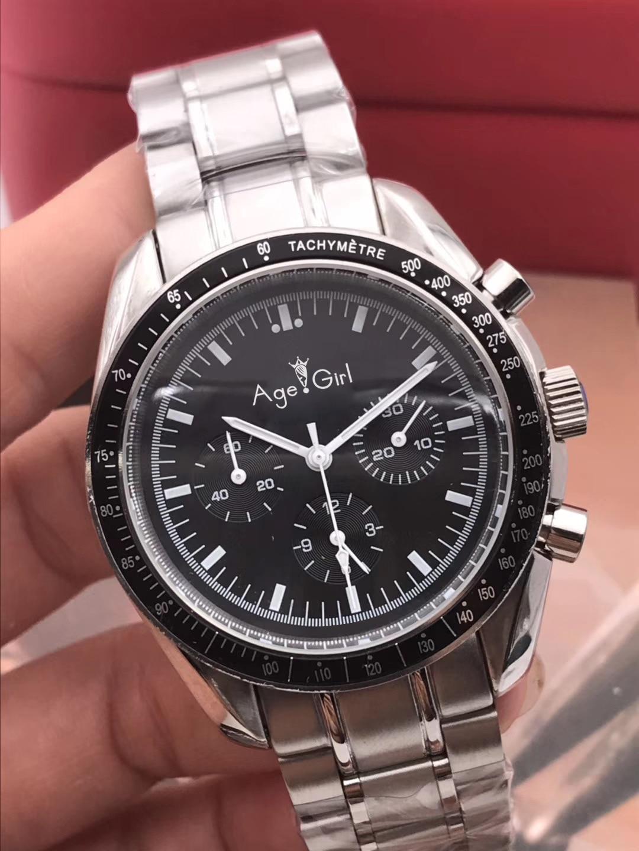 Luxury Brand New Men Automatic Mechanical Speed Racing Luminous Ceramic Bezel Crystal Sapphire Black Leather Sport Watches AAA+