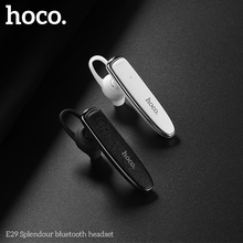 HOCO E29 Bluetooth Headset Earphones Handsfree Headset Mini with Microphone Wireless Headphones for iPhone Millet Headphones wireless bluetooth 4 0 earphones mini stereo headset headphones earphone with microphone for xiaomi iphone samsung