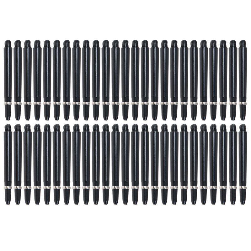 50Pcs/lot Nylon Dart Shafts 2BA 48mm Screw Thread Plastic Darts Rod Stems Darts Accessories For Standard 2BA Screw Thread