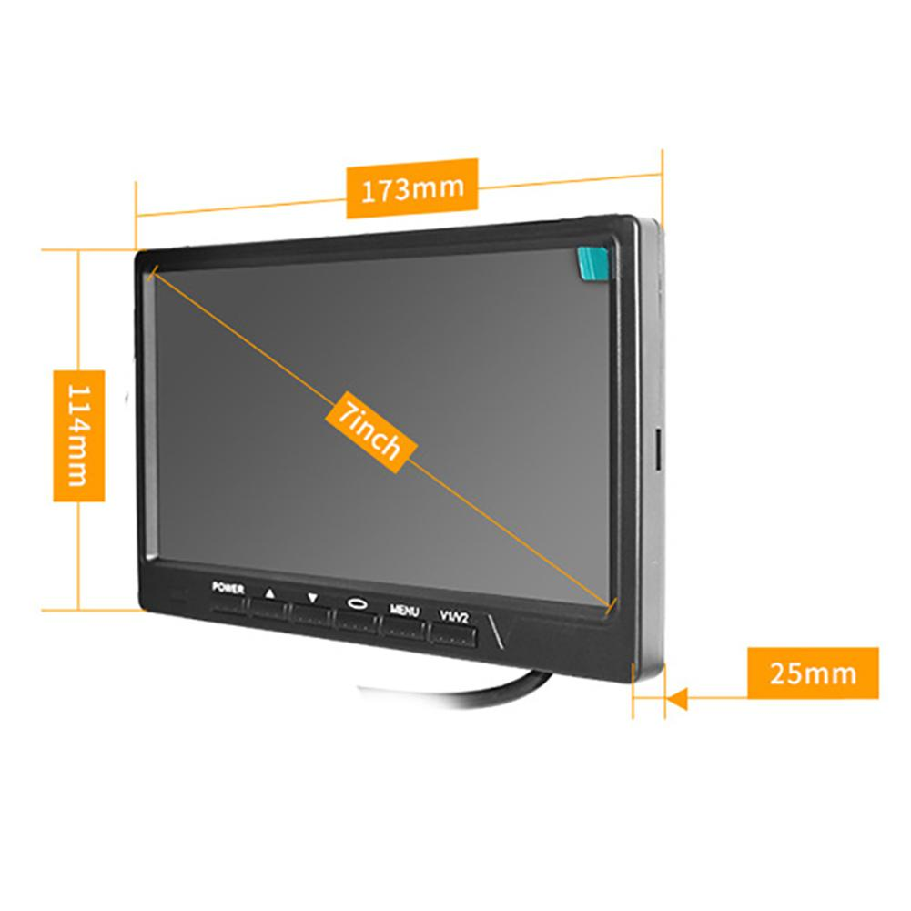 HiMISS 7 Inch Car Monitor 800*480 TFT Color LCD Screen Car Parking System Monitor For Car Reverse