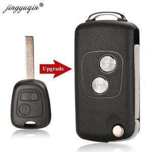 Image 1 - Jingyuqin carcasa de llave de coche con tapa modificada para Citroen C1, C2, C3, Xsara Picasso, Peugeot 206, 306, 307, 407, 406, 2 botones, 20 piezas