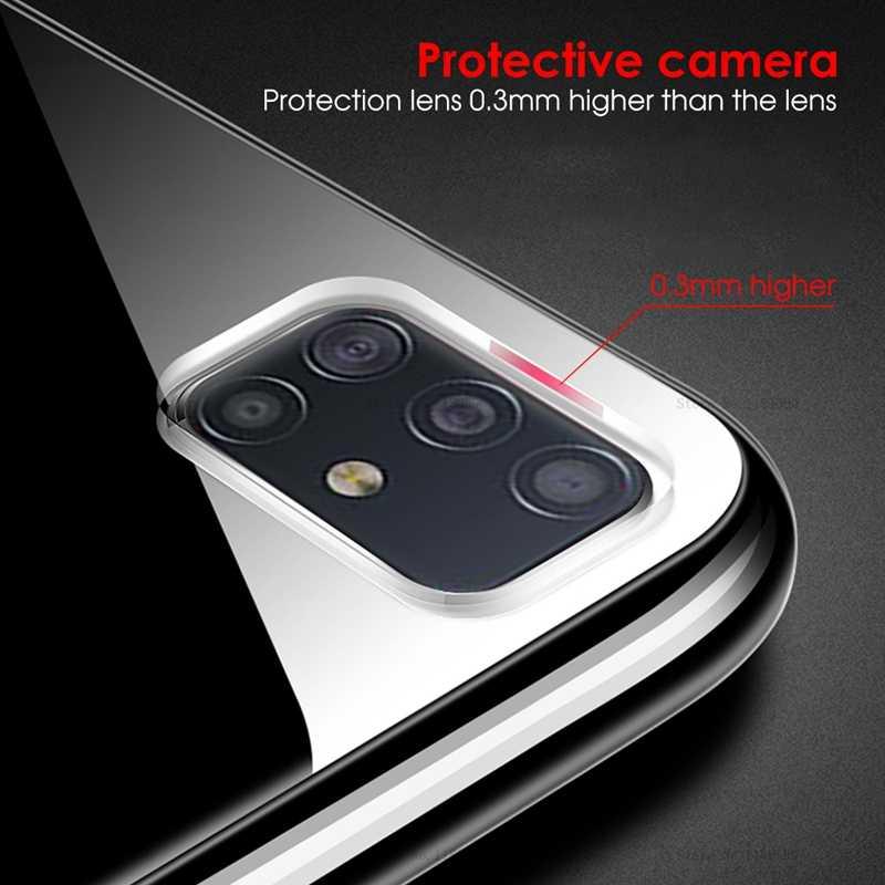 삼성 갤럭시 A51 케이스 커버 울트라 얇은 투명 TPU 실리콘 전화 케이스 삼성 갤럭시 A51 A71 A 51 71 2019 커버