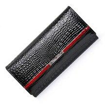 women wallets genuine leather female purses long cow