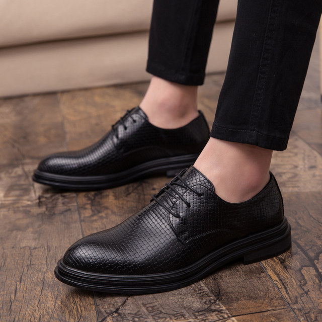 Mens Shoes Casual Luxury Leather Shoes Male Comfortable Dress Shoes Fashion Leisure Walk Formal Shoes Prom Evening Long Dresses 5