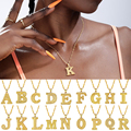 Сплав 26 английский капитал колье с подвеской в виде буквы многослойное украшение на шею в золотую цепочку Цвет A-Z кулон на день рождения, юве...