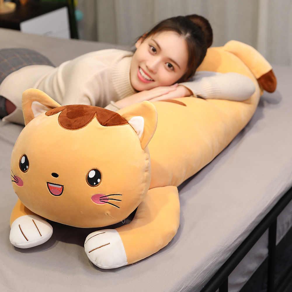 KUY ใหม่ Huggable Kawaii โกหกแมว Plush หมอนนุ่มน่ารักหนูแฮมสเตอร์ตุ๊กตาสัตว์ตุ๊กตาของเล่นตุ๊กตาเด็กหญิงวันเกิดคริสต์มาสของขวัญ