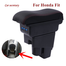Arm Rest Rotatable For Honda Fit Jazz 2002-2008 Hatchback Center Centre Console Storage Box Armrest 2003 2004 2005 2006 2007 for honda fit jazz 14 15 low equipped model armrest center console storage box interior