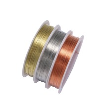 1 Roll Metal Copper Wire Beading Wire Dia 0.2 0.3 0.4 0.5 0.6 0.7 0.8 1mm Beading Wire For Jewelry Making Findings DIY Bracelet цены