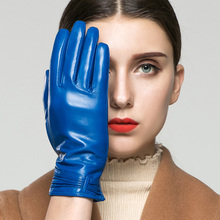 Real Leather Gloves Female Autumn Winter Keep Warm High Quality Goatskin Driving Woman's Gloves Short Style K05-1