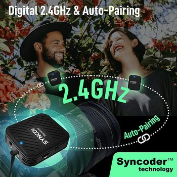 SYNCO G1 G1A1 G1A2  Wireless Lavalier Microphone System  for Smartphone  Laptop  DSLR  Tablet  Camcorder Recorder pk  comica 5