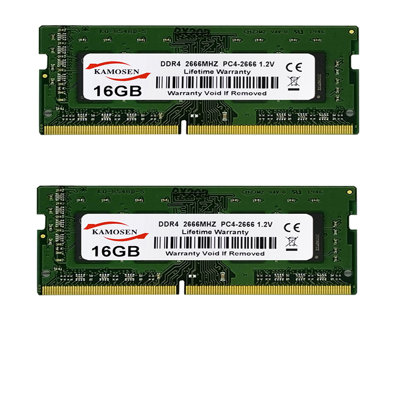 Оперативная память KAMOSES DDR4, 2 ГБ, 4 ГБ, 8 ГБ, 16 ГБ, 32 ГБ, 2133, 2400, 2666, vMHz, 288 PIN, PC4, Универсальная память для ноутбука 17000, 19200, 2666 в