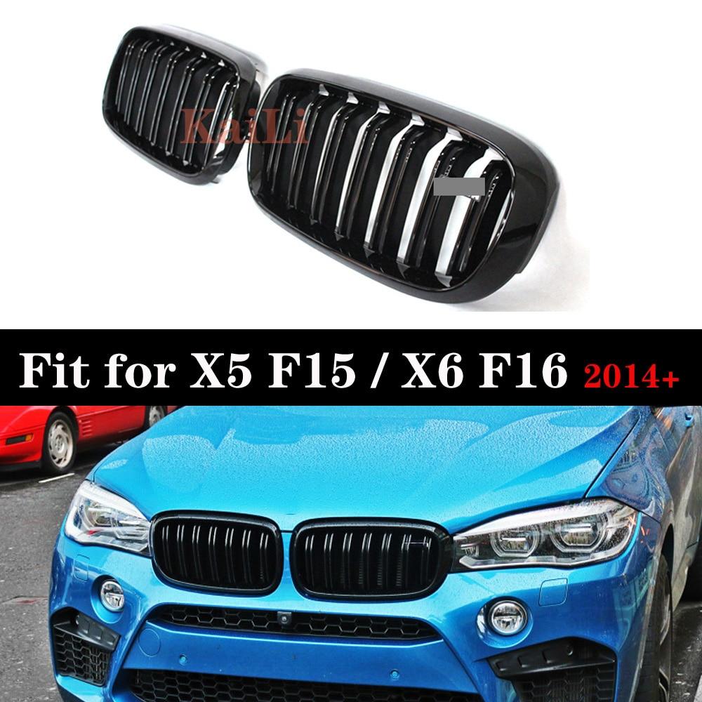 2014-2017 Fit BMW F15 F85 X5 X5M Matte Black M Look Front Hood Kidney Grille