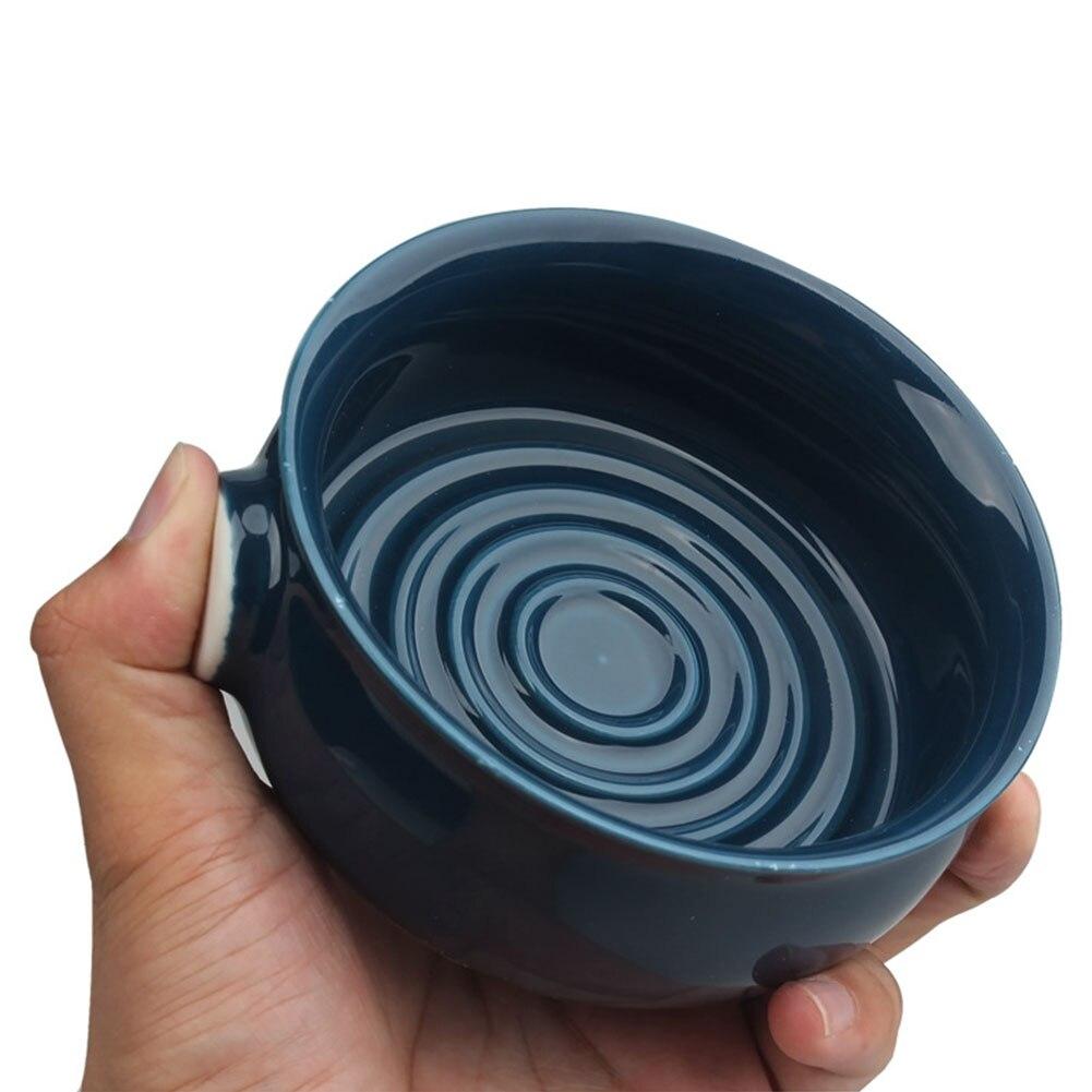 Man Foam Bald Inner Spiral Wide Mouth Home Non-Slip Easy Clean Razor Large Capacity Box Shaving Soap Bowl Ceramic Mug Cleansing