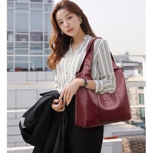 Image 5 - 2/S 女性レザーハンドバッグ高品質の財布やハンドバッグ 2019 女性ソフトレザーショルダーバッグメイントートバッグ女性