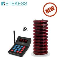 RETEKESS T119 wireless queue paging calling system restaurant pager call customer service  pager queue management system coffee electronic customer relationship management
