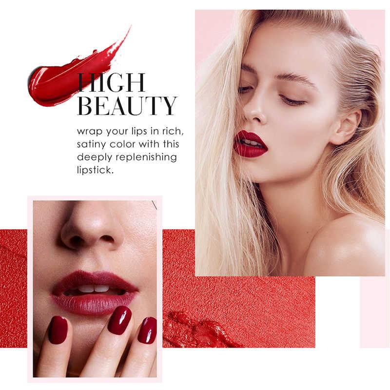O.TWO.O Semi Beludru Lipstik Nude Kaya Warna Tahan Air Pelembab Tahan Lama Ringan Bibir Makuep 12 Warna