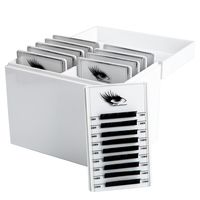 10 Layers Makeup Salon Home Anti Dust Acrylic Organizer With Lid Tool Pallet False Eyelashes Storage Box Holder Desk