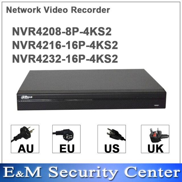 Original dahua english NVR4208 8P 4KS2 NVR4216 16P 4KS2 NVR4232 16P 4KS2 replace NVR4208/16/32 8P 8/16/32CH english POE NVR