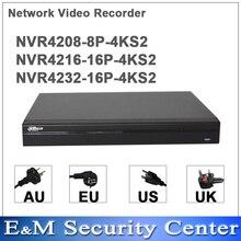 Оригинал dahua английская NVR4208 8P 4KS2 NVR4216 16P 4KS2 NVR4232 16P 4KS2 заменить NVR4208/16/32 8P 8/16/32CH английский POE NVR