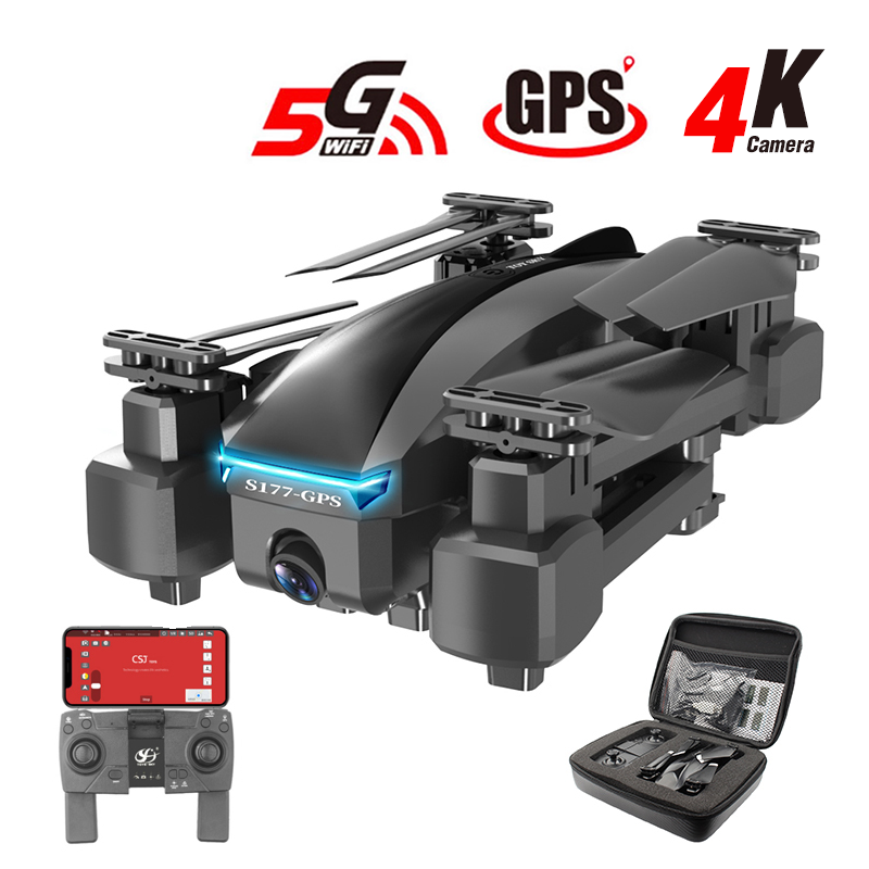 S177 GPS Drone with Camera 4K 5G WIFI HD Wide Angle Dual Camera FPV 20 Mins RC Dron Remote Control Drones 600m Quadcopter Gifts