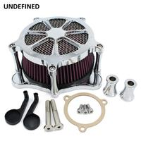 Chrome Motorcycle CNC Air Filter Intake Air Cleaner for Harley Touring Road King Road Glide Electra Glide Dyna FXDLS Softail